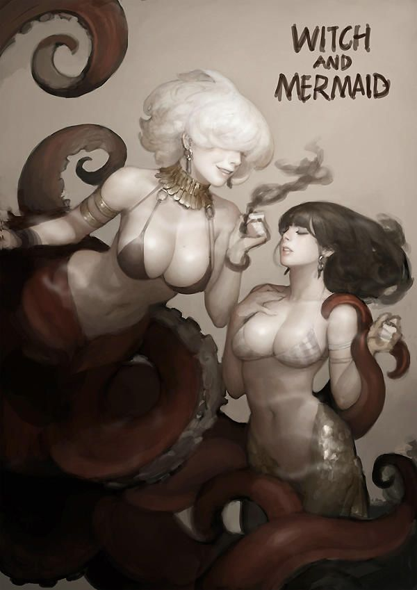 WITCH AND MERMAID by Kim Bum