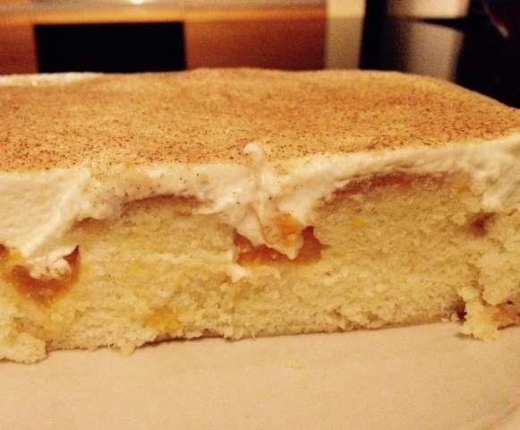 Trend Blech Zimt Kuchen mit Mandarinen u Schmand