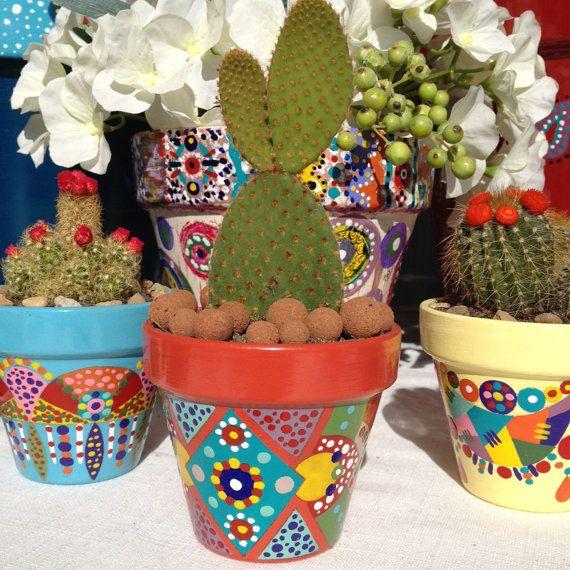 Pequeño cactus maceta suculentas por 3cactusdans1bateau en Etsy