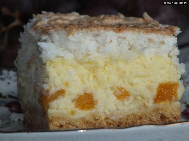 Sernik z brzoskwiniami i masą kokosową - zdjęcie 2