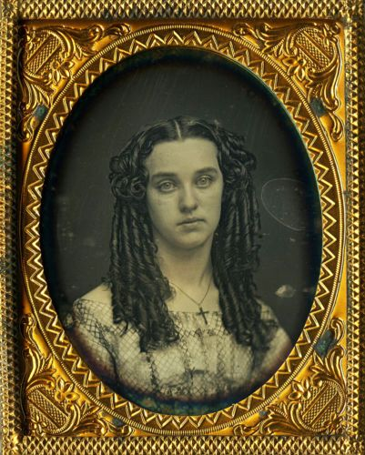 Lovely Christian Theme Daguerreotype Portrait, Long Flowing Curls and Crucifix ! in Collectibles, Photographic Images, Vintage & Antique (Pre-1940), Daguerreotypes | eBay