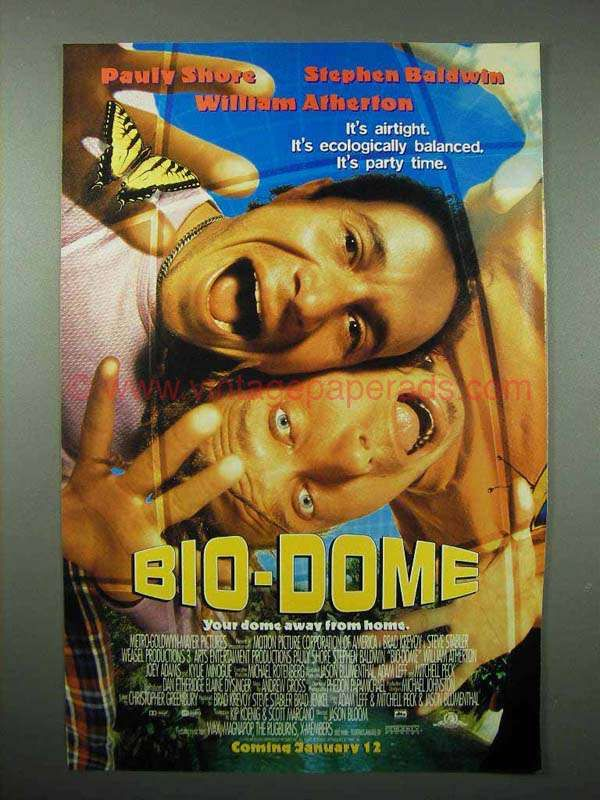 1995 Bio-Dome Movie Ad - Pauly Shore, Stephen Baldwin