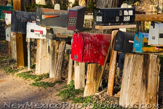 Rural mailboxes in Corrales.