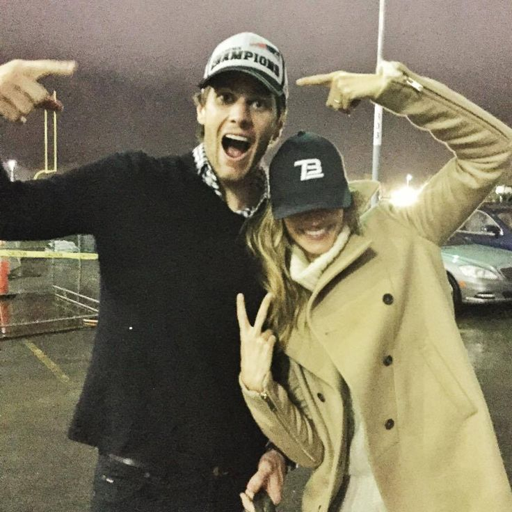 Tom and Gisele after Patriots win championship 1/18/15   45-7 vs Colts.  On to Superbowl 49.