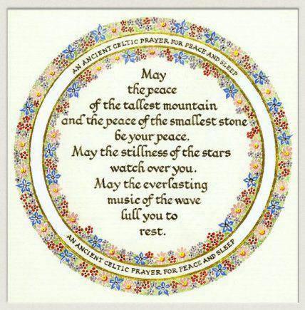 Celtic Prayer for peace and sleep