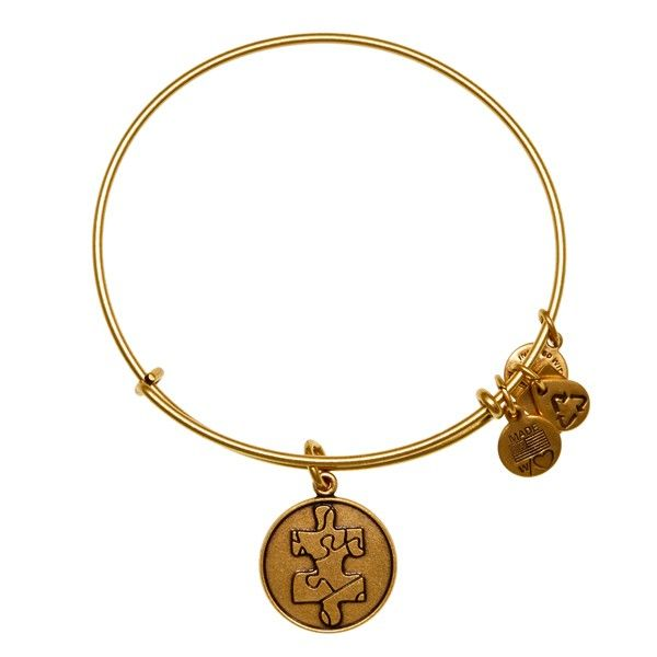 Piece of the Puzzle Charm Bangle | National Autism Association | ALEX AND ANI