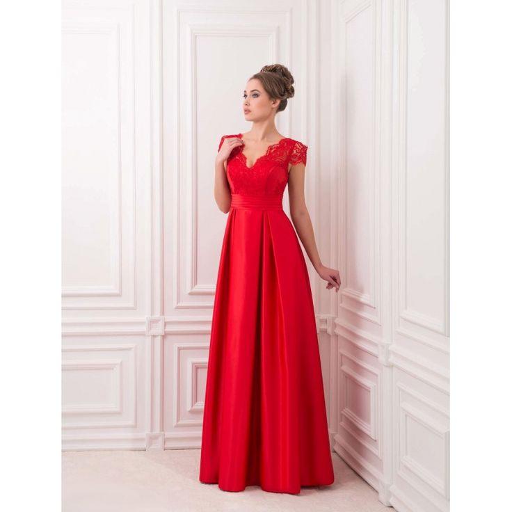 Nádherné večerné šaty s áčkovým strihom