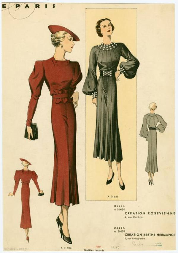 1930s fashion advertisment | Check out these 1930s women's fashion advertisements!