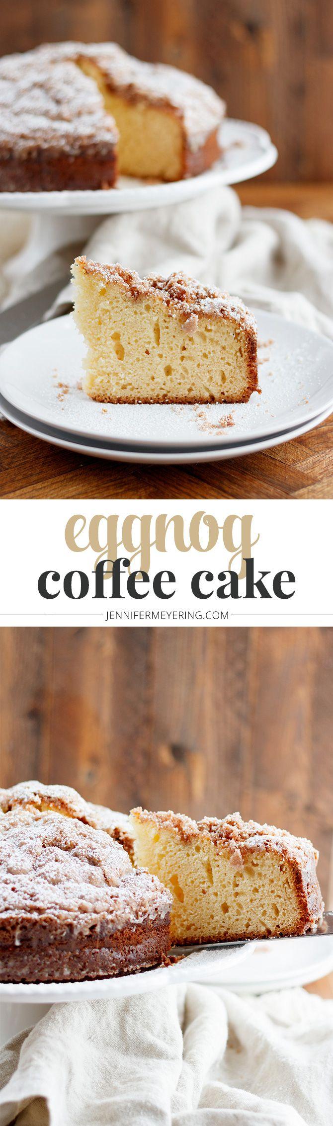 Eggnog Coffee Cake - JenniferMeyering.com