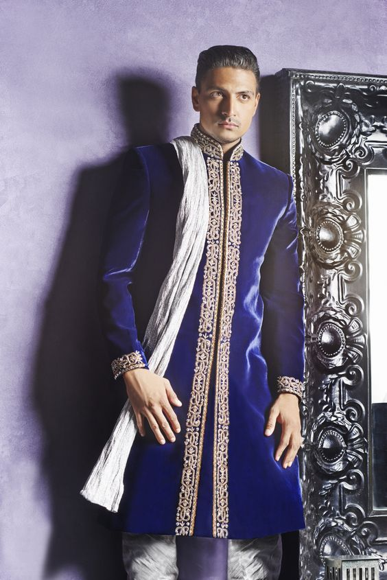 The Dapper Royal Blue Kurta Pyjama