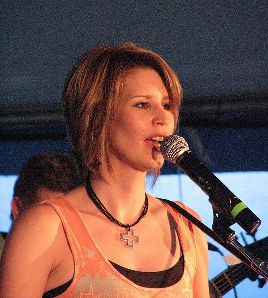 Canadian born country singer Lisa Brokop performing on stage at the Blue Mountain music festival in mid-July 2006s. Sample her work here: http://www.lisabrokop.com/