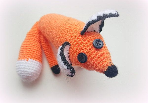 Crochet Fox Toy Crochet and Stuffed Fox doll Orange Fox Handmade Amigurumi Gift for Kids Crochet Animal Crochet Fox Plush (27.00 EUR) by VioletaOwl