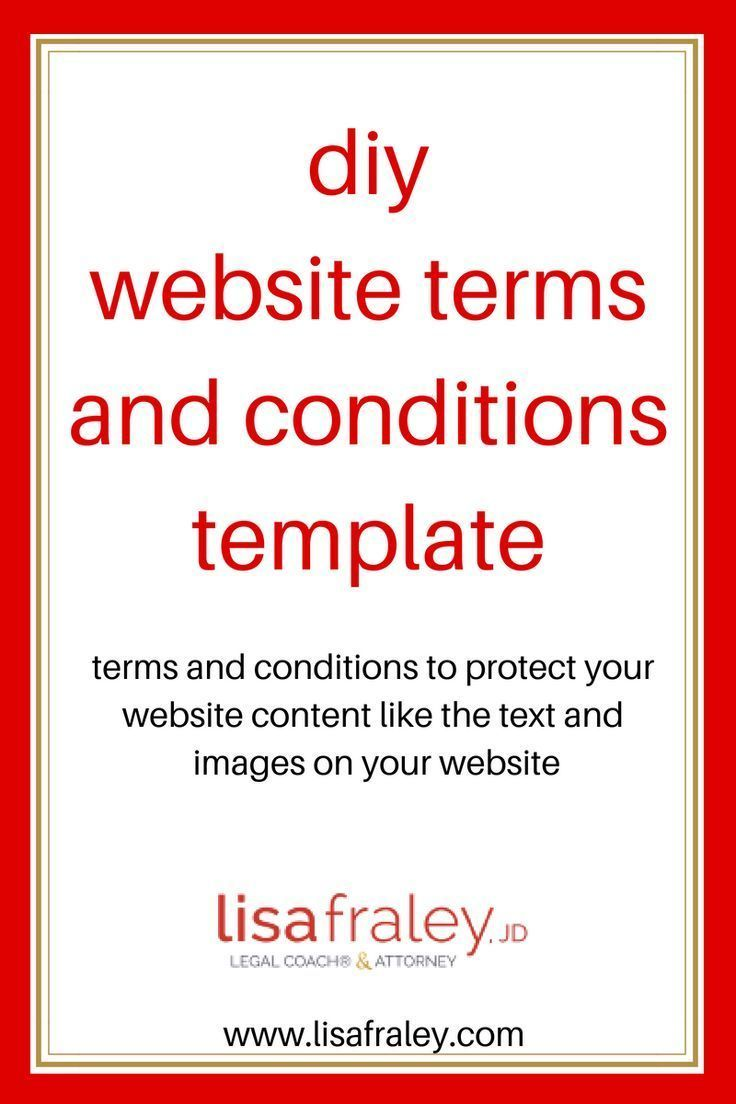 this terms and conditions template will protect your website content