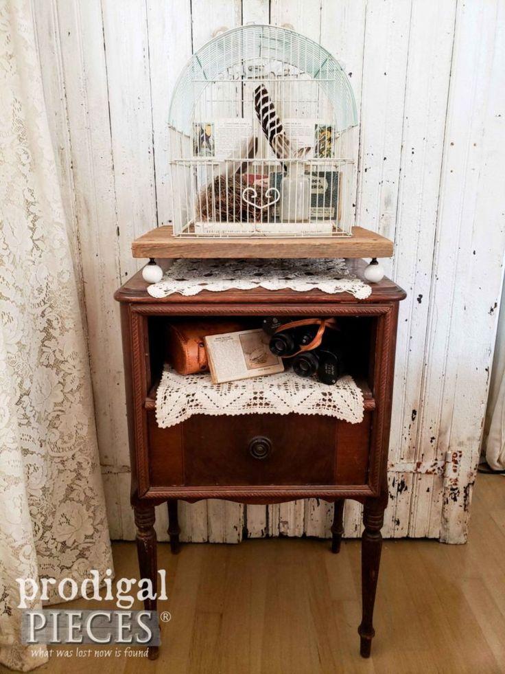 Upcycled Bird Cage for Farmhouse Decor