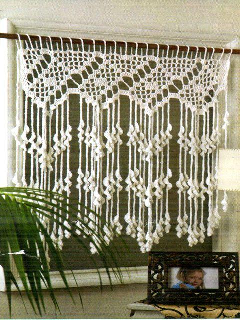 tejidos artesanales en crochet: una cortina para nuestro rinconcito!!