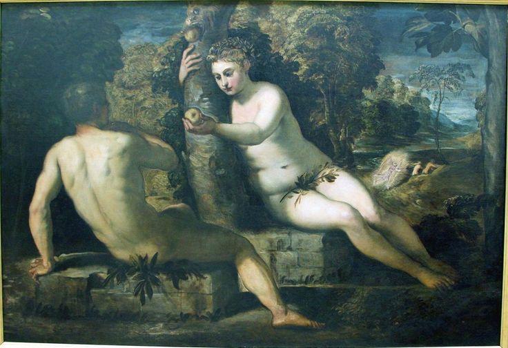 Тинторетто. Адам и Ева.