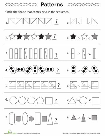 geometric patterns what comes next ideas for fourth grade pattern worksheet 2nd grade. Black Bedroom Furniture Sets. Home Design Ideas