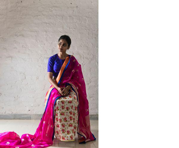 nanki saree worn with chameli petticoat