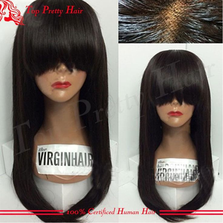 Wholesale Price Silk Top Glueless Full Lace Wigs With Bangs Silky Straight Virgin Brazilian Hair Silk Base Lace Front Wigs With Baby Hair Afro Wig Buy Wigs Online From Topprettyhair, $221.11| Dhgate.Com