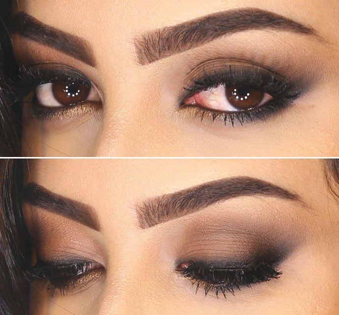 Tutorial – maquiagem inspirada em Nina Dobrev. Esfumado marrom bonito.