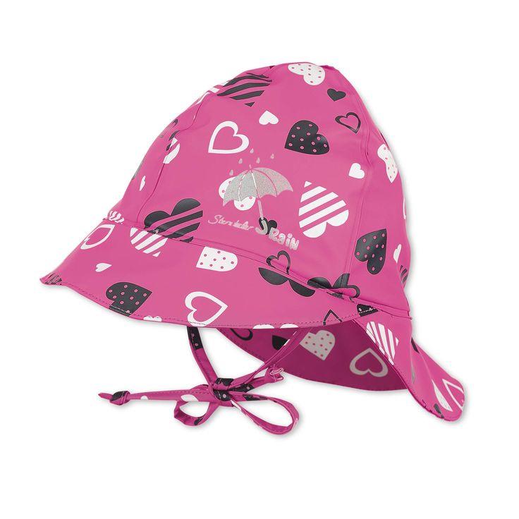 Mode, die auch die ganz jungen damen begeistert. Sterntaler Kinder M dchen Regenhut mit Nackenschutz, Rosa ...