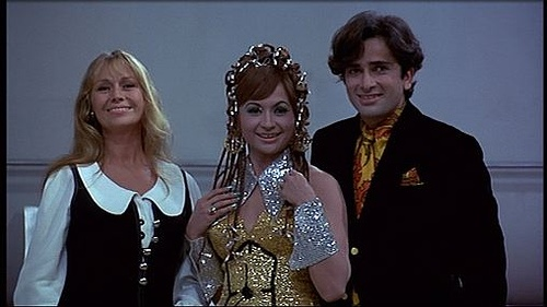 Shashi Kapoor with his would be life partner Jennifer Kendal and Helen in Bombay Talkie, another from the Ivory Merchant stable.