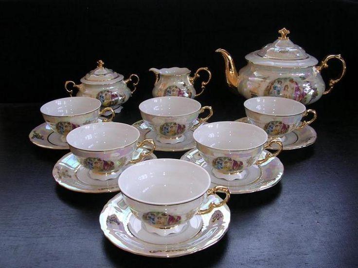 Čajová souprava Sonáta 676 15d. - Leander Loučky - Kávové soupravy, čajové soupravy | Porcelán, sklo, lustry, nože, šperky - Verner a syn