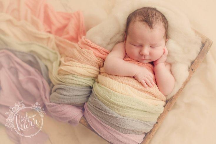 rainbow newborn pictures