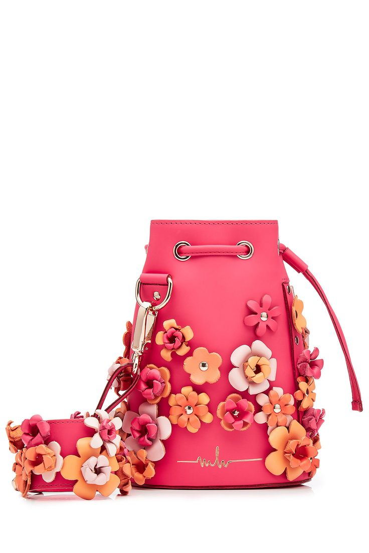 Marina Hoermanseder - Embellished Leather Drawstring Bag | STYLEBOP