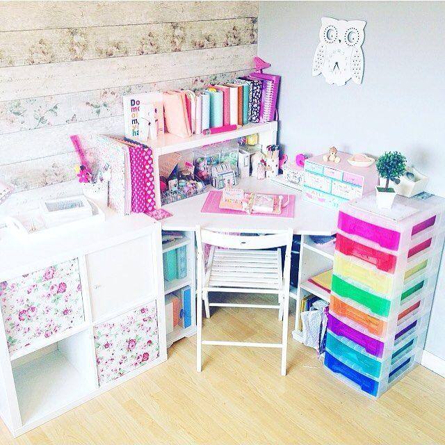 Room Decor, Desk Space, Desk Inspiration, IKEA, Ikea Hack, Pastel, Pink
