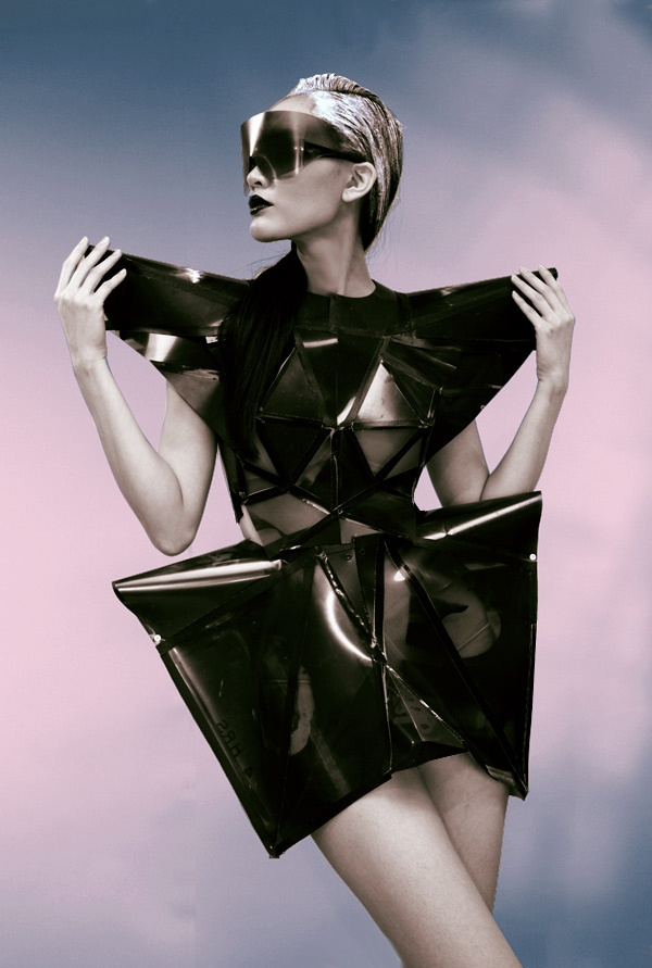 """Futuristic Fashion Model Royalty Free Stock Photos: House Of Diehl's """"Instant Couture"""