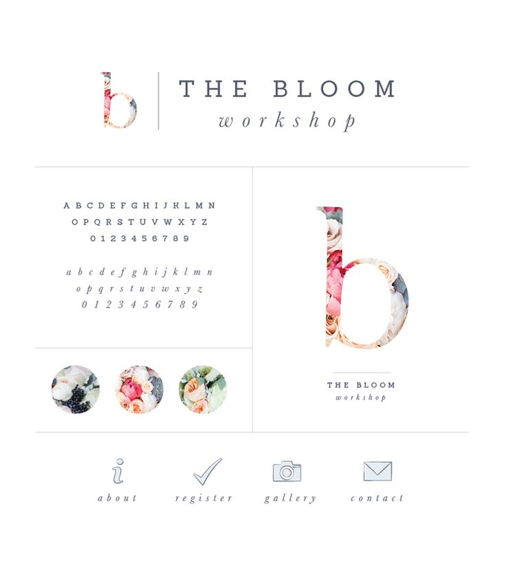 Brand style board for The Bloom Workshop - Elle & Company