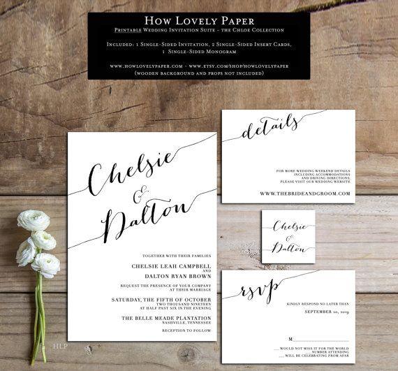 1000+ Ideas About Printable Wedding Invitations On