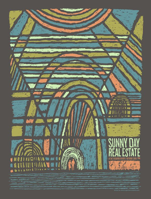Sunny Day Real Estate screen printed gig poster — Kevin Mercer