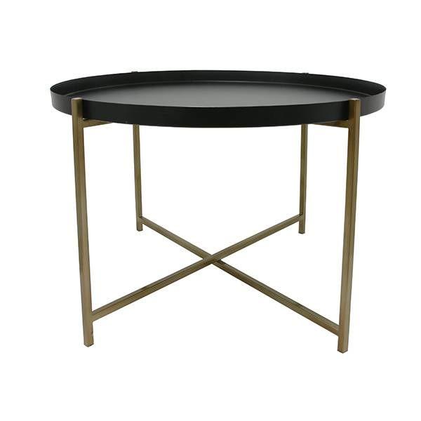 Stoere en robuuste bijzettafeltafel van HK-living. De tafel is van messing gemaakt, prachtig in elk interieur! Ideaal om uitgebreid koffie te drinken of te borr