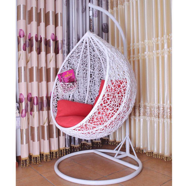 Rattan hanging basket bird nest rattan chair rocking chair indoor outdoor swing hanging chair casual swing carpet