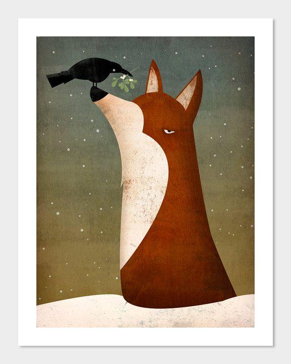 Fox, Crow and Mistletoe SIGNED by Ryan Fowler