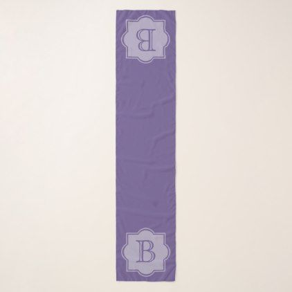 Trendy Ultra Violet Simple Logo Purple Monogram Scarf - monogram gifts unique design style monogrammed diy cyo customize