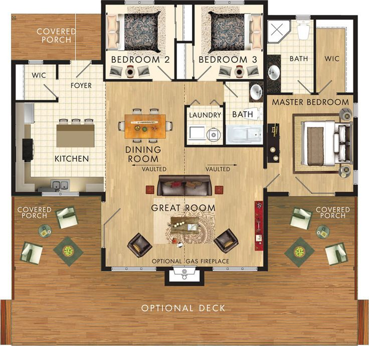 Small Homes That Use Lofts To Gain More Floor Space: 1300 Sq Ft, 3 Bedroom, 2 Bath With