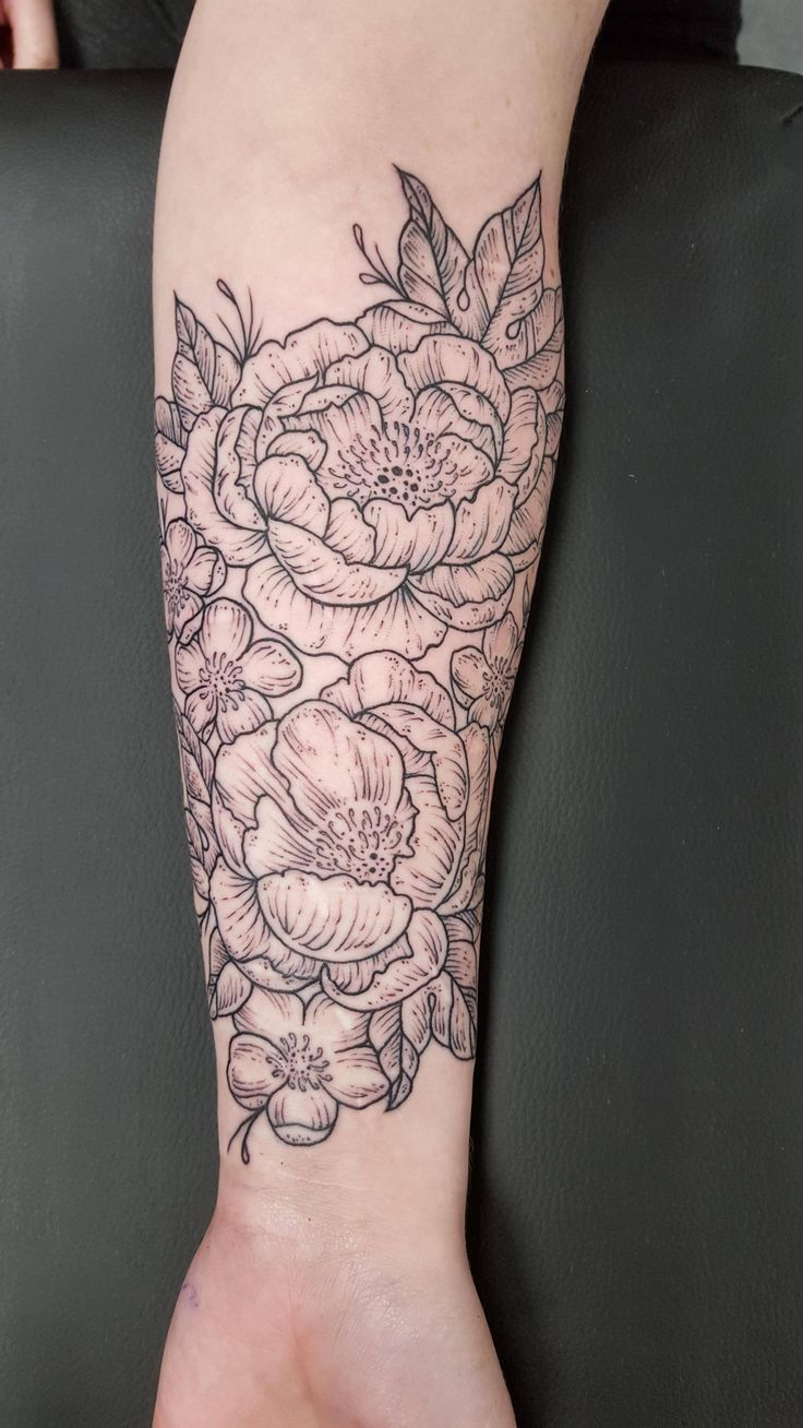 """""""Antique floral scar cover up by Whitney at Human Kanvas in Calgary, AB, Canada"""" by Zombieunicorn666 in tattoos"""