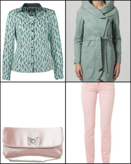 THE FASHIONAMY by Amanda Fashion blogger outfit, made in italy street wear : Green and pastel pink outfit - verde e rosa cipria con zeppe Fi...#green #pink #pastel #pastelcolors #shoes #wedges #style #fashion #girl #spring #summer #trend #coat #denim #accessories #fashionblog #fashionblogger