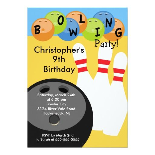 438 best bowling birthday party invitations images on pinterest bowling birthday party invitation retro stopboris Image collections