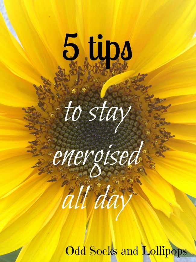 how to stay energised throughout the day