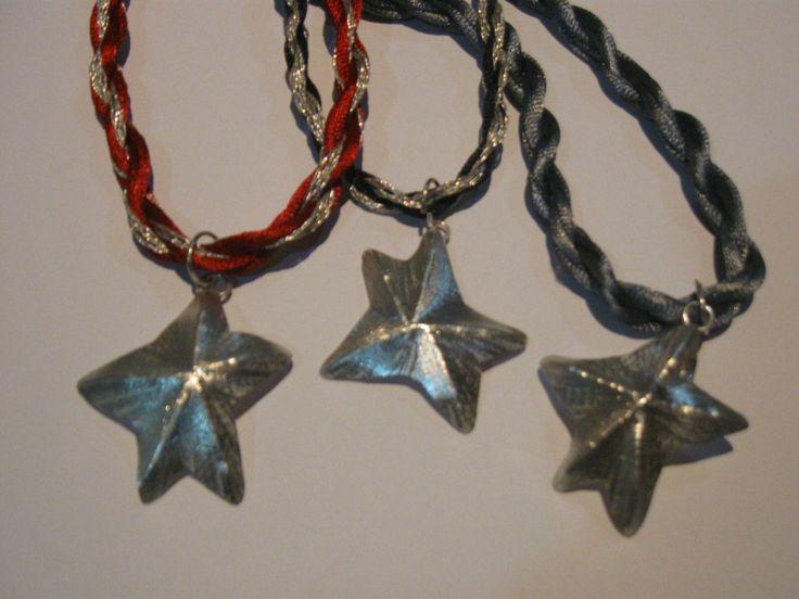 Colgantes estrellas de mar en plata