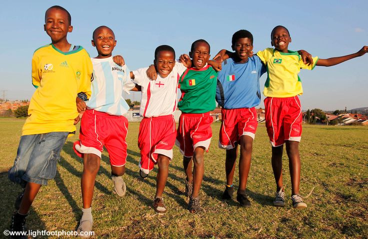 Young soccer players supporting their favourite team!