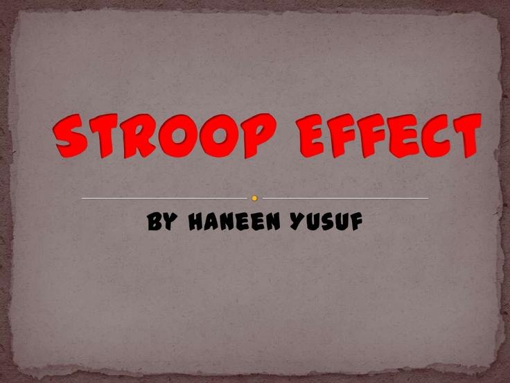 Science Fair - Stroop Effect                                                                                                                                                                                 More
