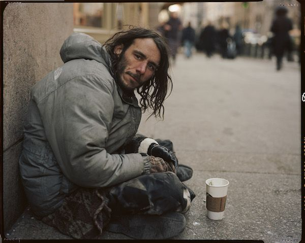 Andres Serrano's new series of portraits of New York City's homeless people is on view in parks, subways, and telephone booths.