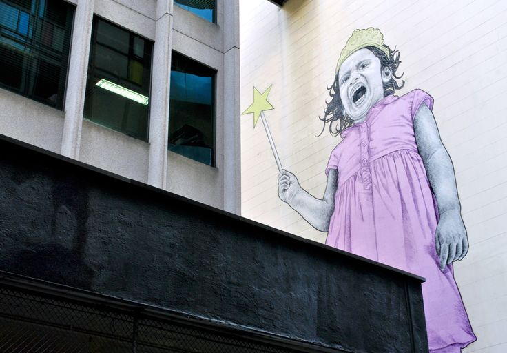 'Bad Princess'. Russell Place, Melbourne. © G.C. Campbell.