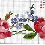 Rosas gráfico Rosas gráfico de ponto cruz para bordar...
