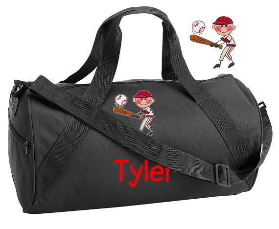 Personalized Kids\\\' Sports Duffel Bags BASEBALL Duffel Bag Custom